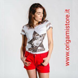 PEPITA 9890 T-shirt Wonder Woman con stampa e paillettes