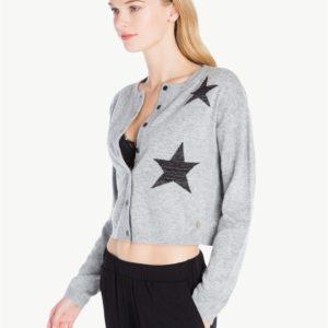 TWINSET LA7LKK Cardigan grigio con stelle