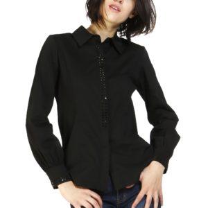 MIMI' MUA' Firenze RFI8-1040 Camicia Nera con borchie