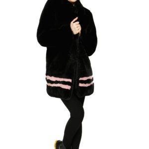 MIMI' MUA' Firenze YAN8-6017 Cappotto Nero pelliccia sintetica