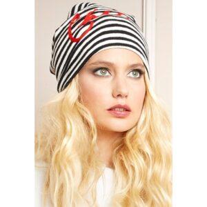 """PEPITA 9050 Cappello a righe con scritta """"Chic"""""""