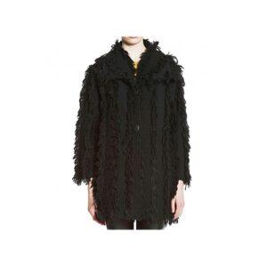 PEPITA 24/7 9390 Cappotto Nero in lana con frange