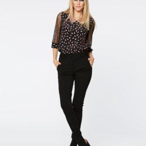 PEPITA 5374 Pantalone Nero morbido con tasche