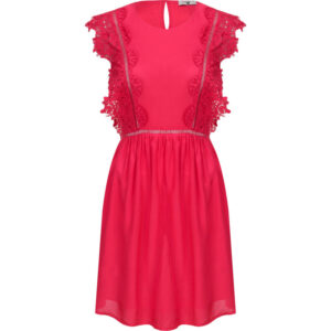 TWINSET BS8FBB Abito rosso in pizzo
