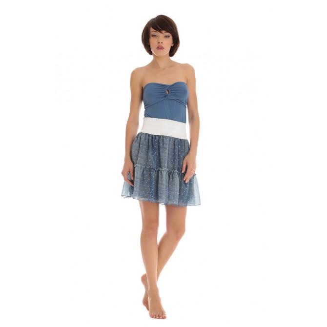 sito ufficiale design senza tempo preordinare PEPITA 6758 Top a fascia color Jeans
