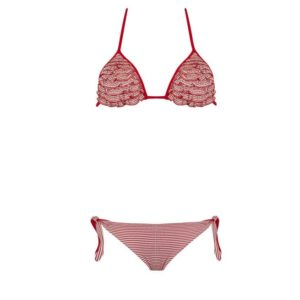 VERDISSIMA Bikini triangolo + brasiliana Vichy
