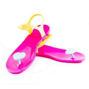 ZHOELALA Milano Sandalo in gomma Valentine Pink Yellow
