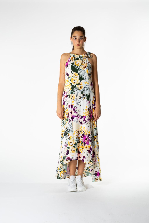 promo code a496c 6356e MIMÌ MUÀ Firenze CFE94082 Abito lungo fiori in multicolor